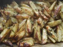 Pieczone ziemniaczki czosnkowo-ziołowe