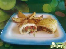 Pieczone ziemniaki i roladki ala gołąbki