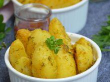 Pieczone ziemniaki w bułce tartej z koprem