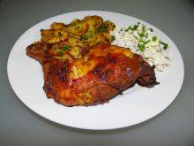 Pieczony kurczak w marynacie musztardowo-miodowej