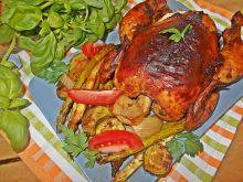 Pieczony kurczak z wędzoną papryką i warzywami