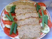 Pieczony pasztet mięsno-ryżowy