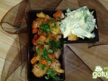 Pieczony schab z warzywami