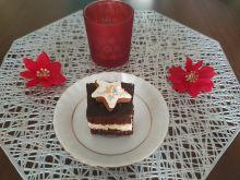 Ciasto piernikowe z dżemem i masą grysikową