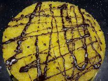 Piernik z masą czekoladową i musem mandarynkowym