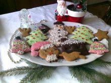 Piernikowe ciastka na choinkę