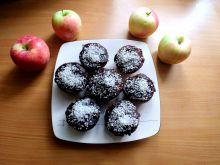 Piernikowo - kakaowe muffinki z jabłkami