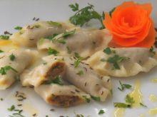 Pierogi mięsno-marchewkowe z kminkiem