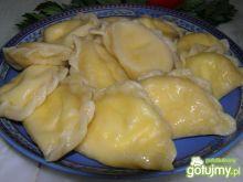Pierogi z białym serem na słodko