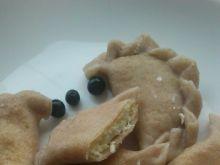 Pierogi z białym serem - pełnoziarniste