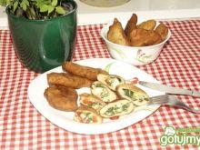 Pierogi ze szpinakiem i serem pleśniowym
