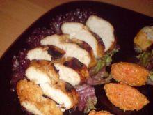 pierś kurczaka z pure marchwiowym