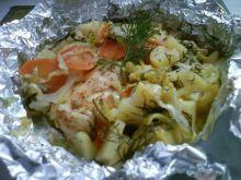 Pierś z kurczaka pieczona w warzywach