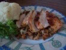Pierś z kurczaka w kurkach