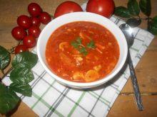 Pierś z kurczaka z pieczarkami w sosie pomidorowym