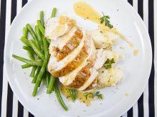 Pierś z kurczaka z purée ziemniaczano-selerowym