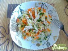 Pierś z kurczaka z ryżem i warzywami