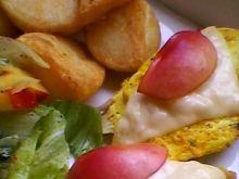 Pierś z kurczaka z serem i nektarynką