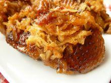 Piersi z gęsi w sosie selerowo-śliwkowym