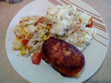 Piersi z kurczaka z brokułami i serkiem topionym