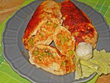Piersi z kurczaka z groszkiem i serem
