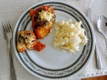 Piersi z kurczaka zapiekane z serem i pieczarkami