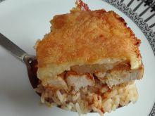 Piersi z ryżem zapiekane w ananasach