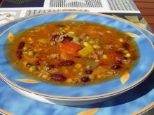Pikantna zupa meksykańska