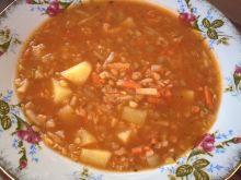 Pikantna zupa z ziemniakami i soczewicą