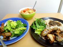 Pikantne pałki z kurczaka z ryżem