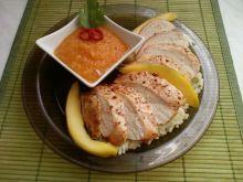 Pikantny kurczak z musem z mango