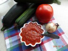 Pikantny sos ketchupowy z cukinii