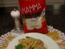 Pióra alla Mamma Mia z krewetkami