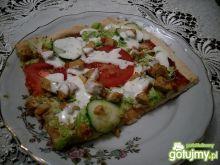 Pizza kebab z sosem czosnkowym