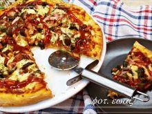 Pizza na cieście maślankowym