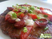 Pizza na plackach ziemniaczanych