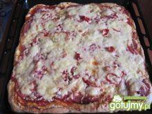 Pizza pikantna z salami i serem