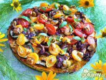 Pizza z cukinią, kurkami i serem lazur