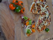 Pizza z grzybami shiitake