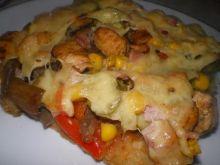 Pizza z kurczakiem i warzywami