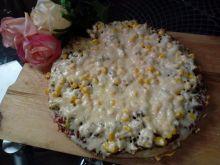 Pizza z mięsem z rosołu