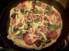Pizza z patelni z opieńkami