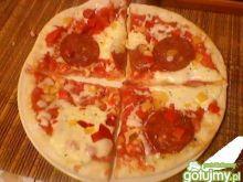 Pizza z pomidorowym sosem