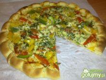 Pizza z Serem i Kolorową Papryką