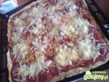 Pizza z serem i salami