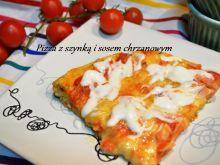 Pizza z szynką drobiową