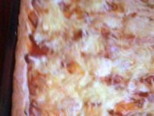 Pizza z szynką i serem o posmaku oregano