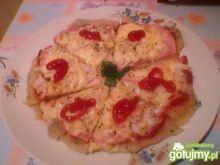 Pizza z szynką z patelni