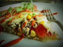 Pizza z tuńczykiem i kukurydzą (bez drożdży)