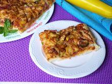 Pizza z warzywami i kurczakiem